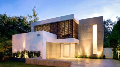 Fachada-de-casa-modernas-de-dos-pisos-Diseño-y-fotos-Steven-Kent-Architect-